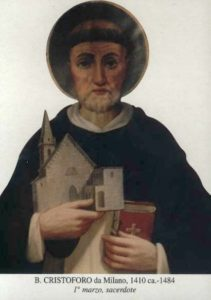 BL. KRIŠTOFA Z MILÁNA, KŇAZA (cca 1410–1484)