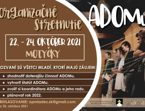 Organizačné stretnutie ADOMu – POZVÁNKA